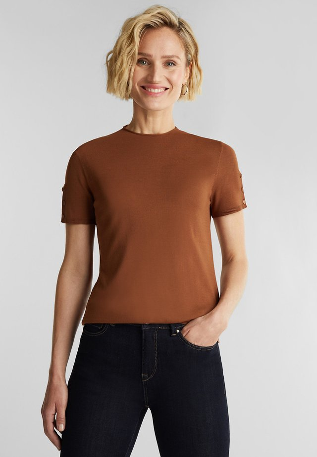 T-shirt basic - toffee