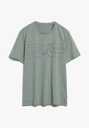 JAAMES SMOOTH BIKE - Print T-shirt - agave