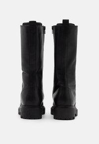 Zign - Šněrovací vysoké boty - black - 3