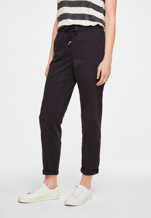 REGULAR FIT - Trousers - black