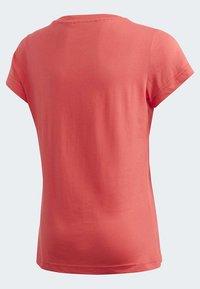 adidas Performance - ESSENTIALS LINEAR T-SHIRT - T-shirt imprimé - pink - 4