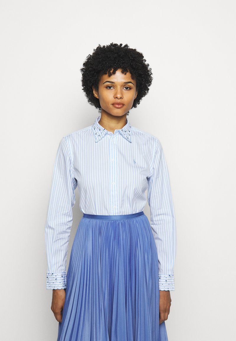 Polo Ralph Lauren - GEORGIA LONG SLEEVE - Button-down blouse - white/blue