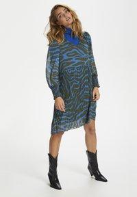 Denim Hunter - Day dress - blue zebra print - 1