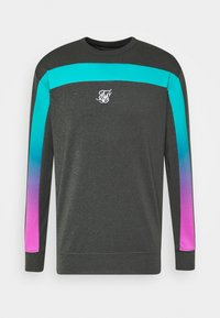 SIKSILK - TRI FADE PANEL CREW - Long sleeved top - dark grey - 3