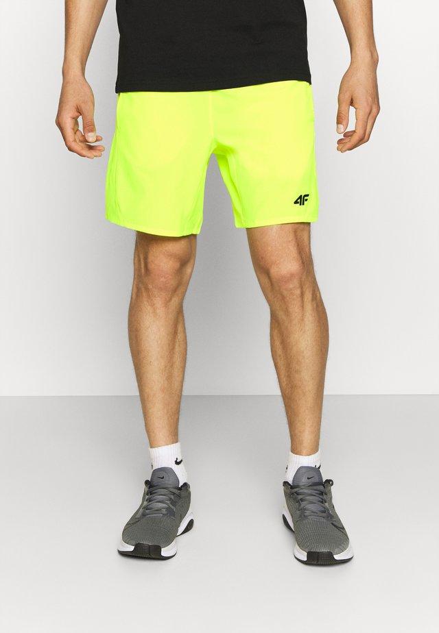 Men's training shorts - Sports shorts - neon yellow