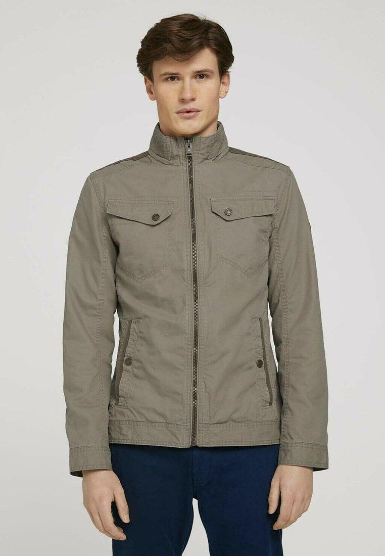 TOM TAILOR - BIKER - Light jacket - coastal fog beige