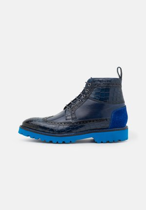 MATTHEW 9 - Lace-up ankle boots - electric blue