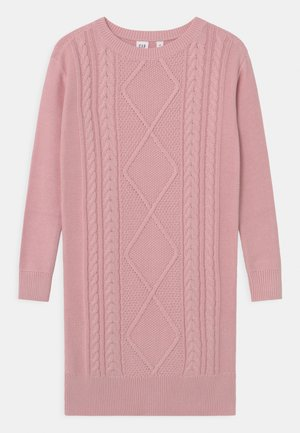 GIRL CABLE DRESS - Jumper dress - pure pink