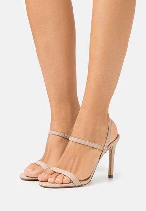 ZAYWIEN - Sandaler med høye hæler - medium beige
