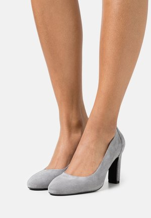 LEATHER - High heels - grey
