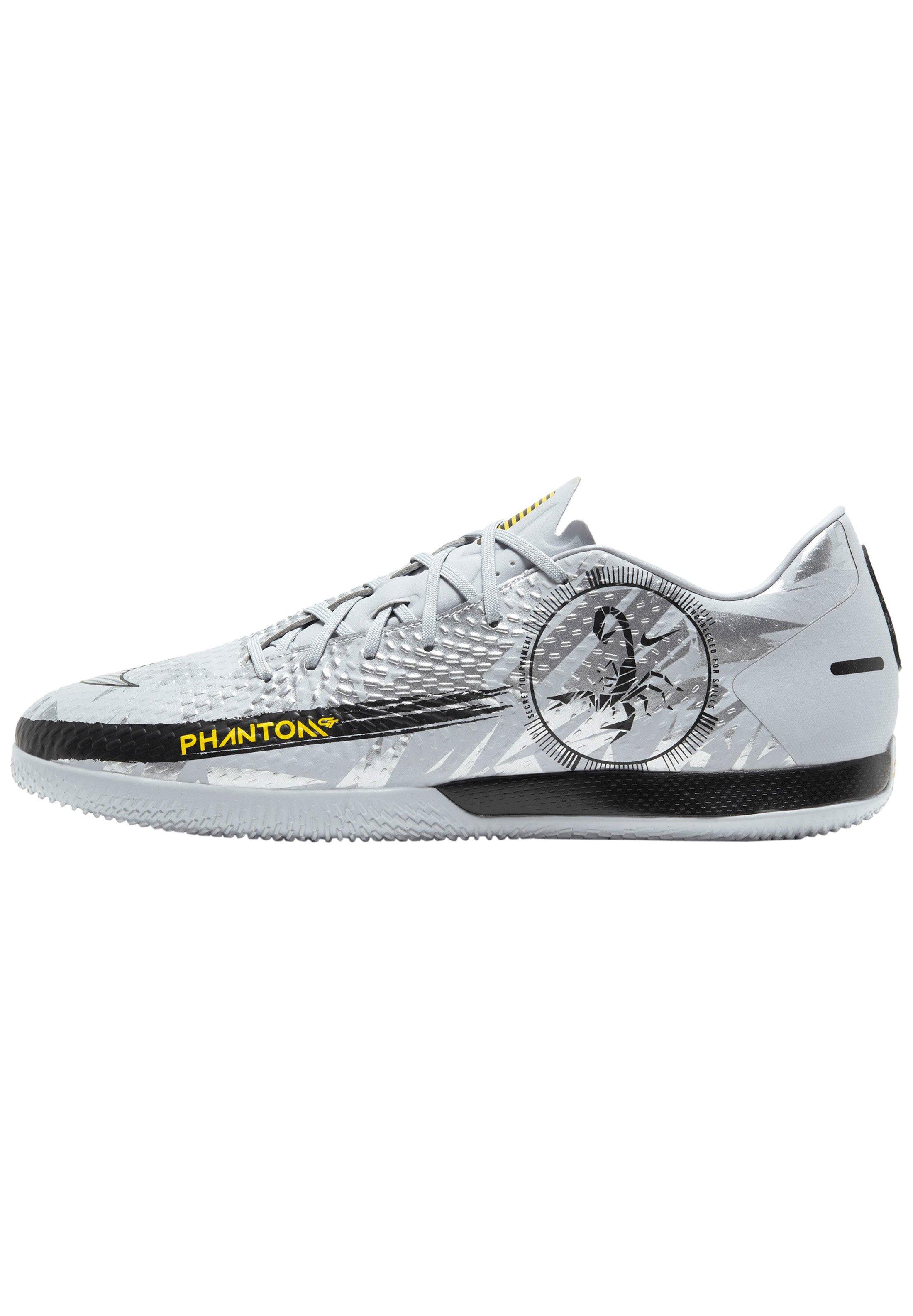 Nike Performance Chaussures de foot en salle - silver,black/argenté ...