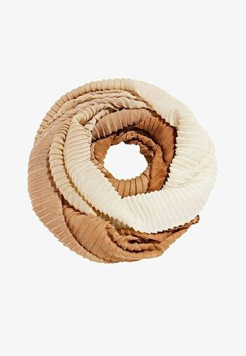 MIT PLISSEE-FALTEN - Scarf - sand
