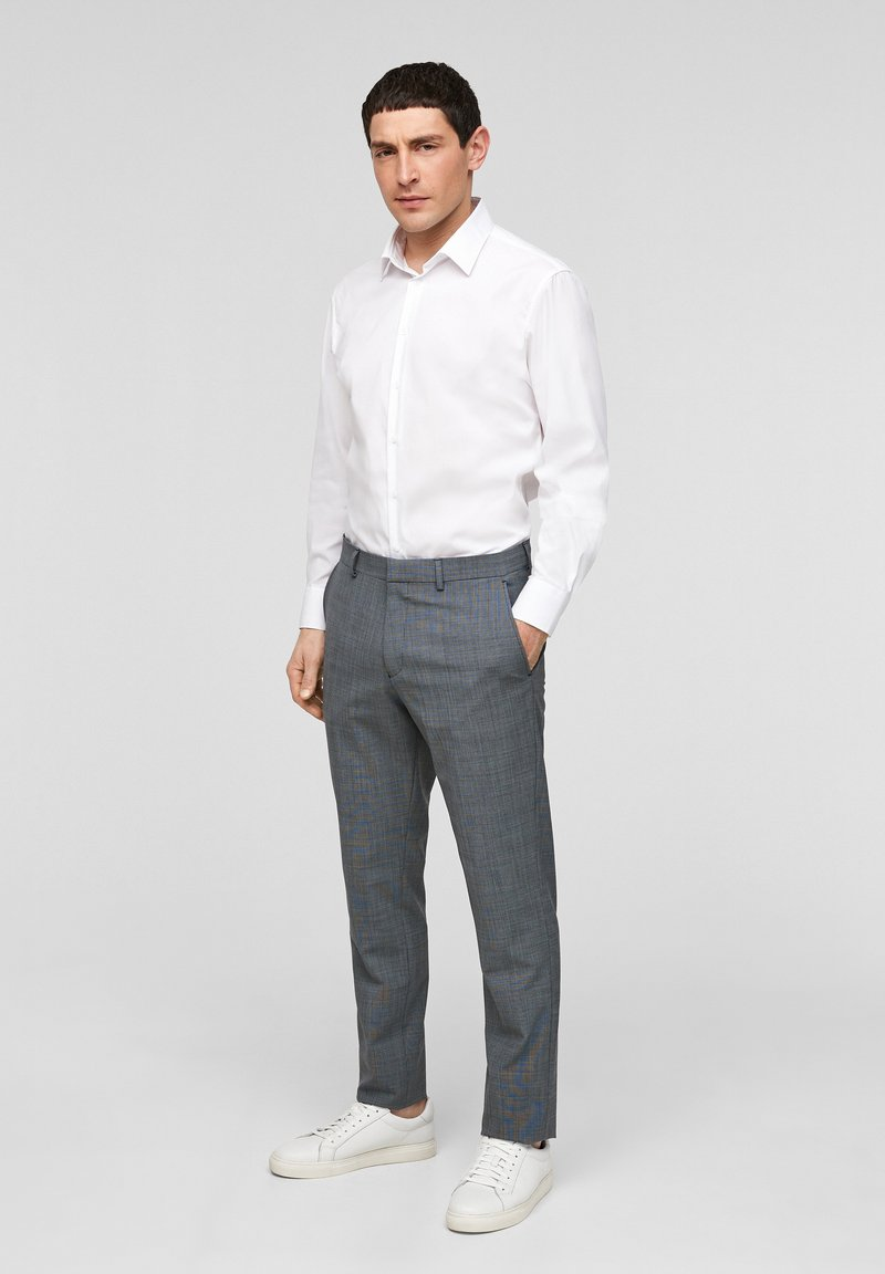 s.Oliver BLACK LABEL - Pantaloni eleganti - dark blue check