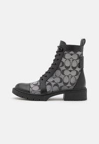 Coach - LANA BOOTIE - Šněrovací kotníkové boty - black - 1