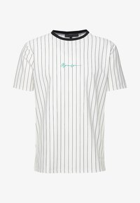 Mennace - STRIPE TEE - Print T-shirt - white - 4