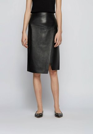 SELOA - Wrap skirt - black
