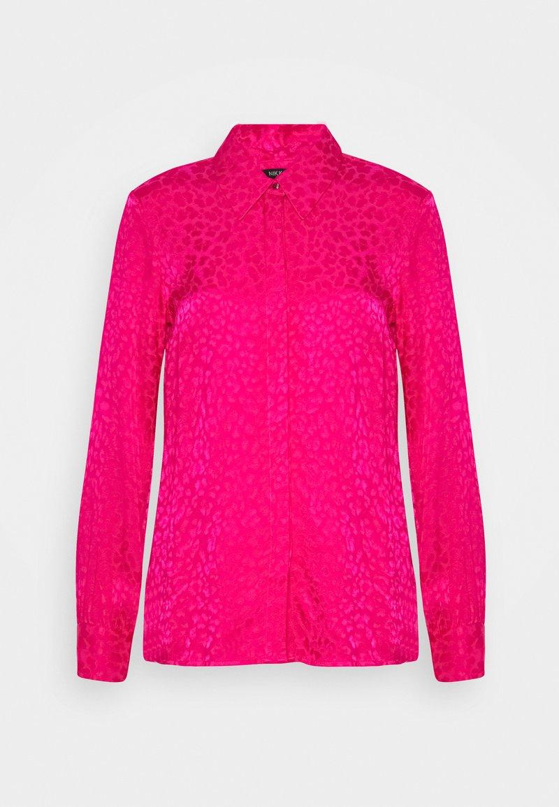 NIKKIE - FEBE - Button-down blouse - lipstick