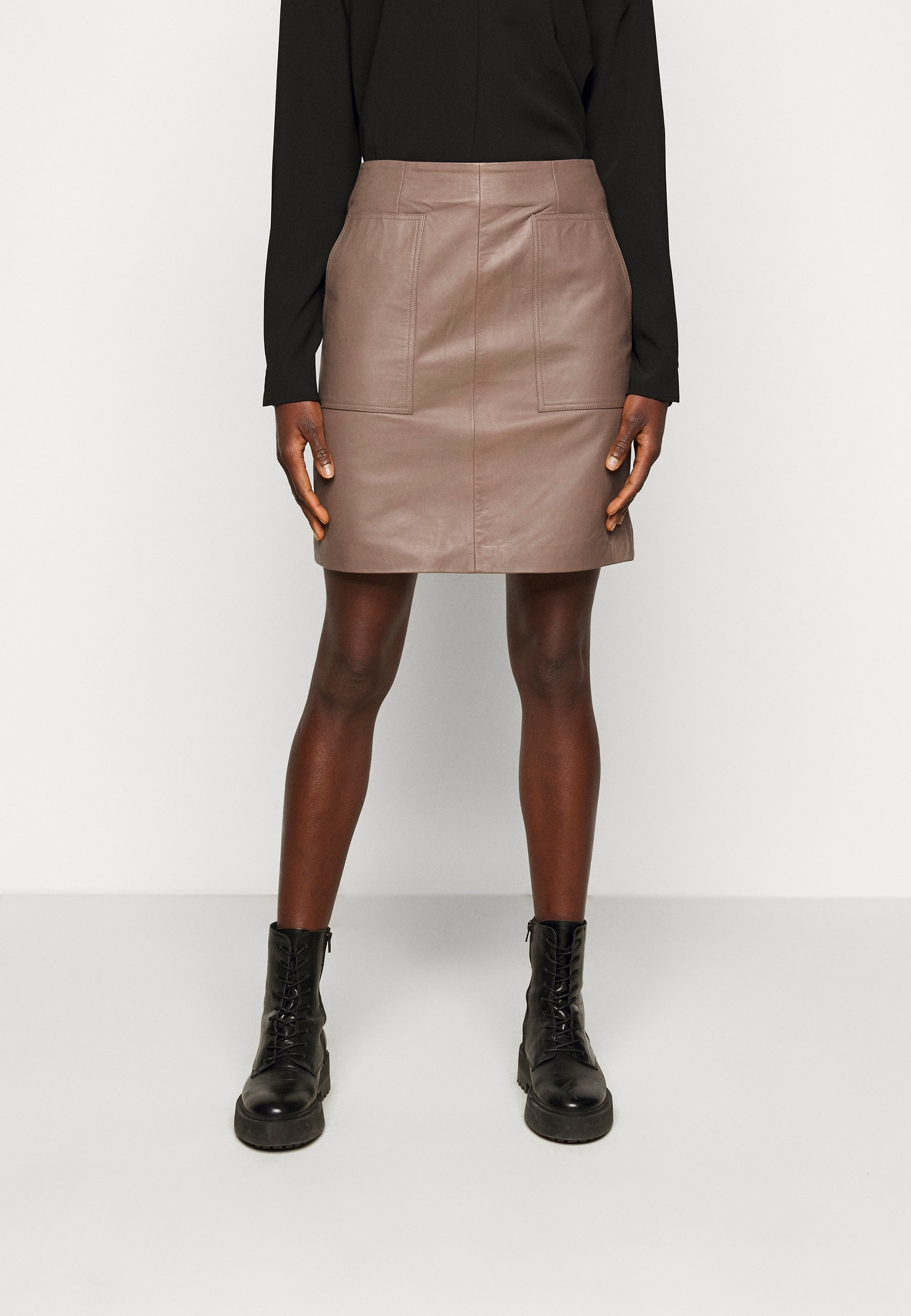 Women SLFMOON SKIRT  - Leather skirt
