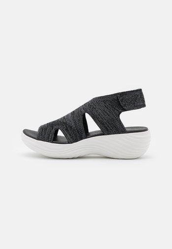 MARIN SAIL - Sandalias con plataforma - black