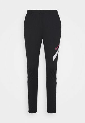 DRY ACADEMY 20 PANT - Tracksuit bottoms - black/white/hyper pink