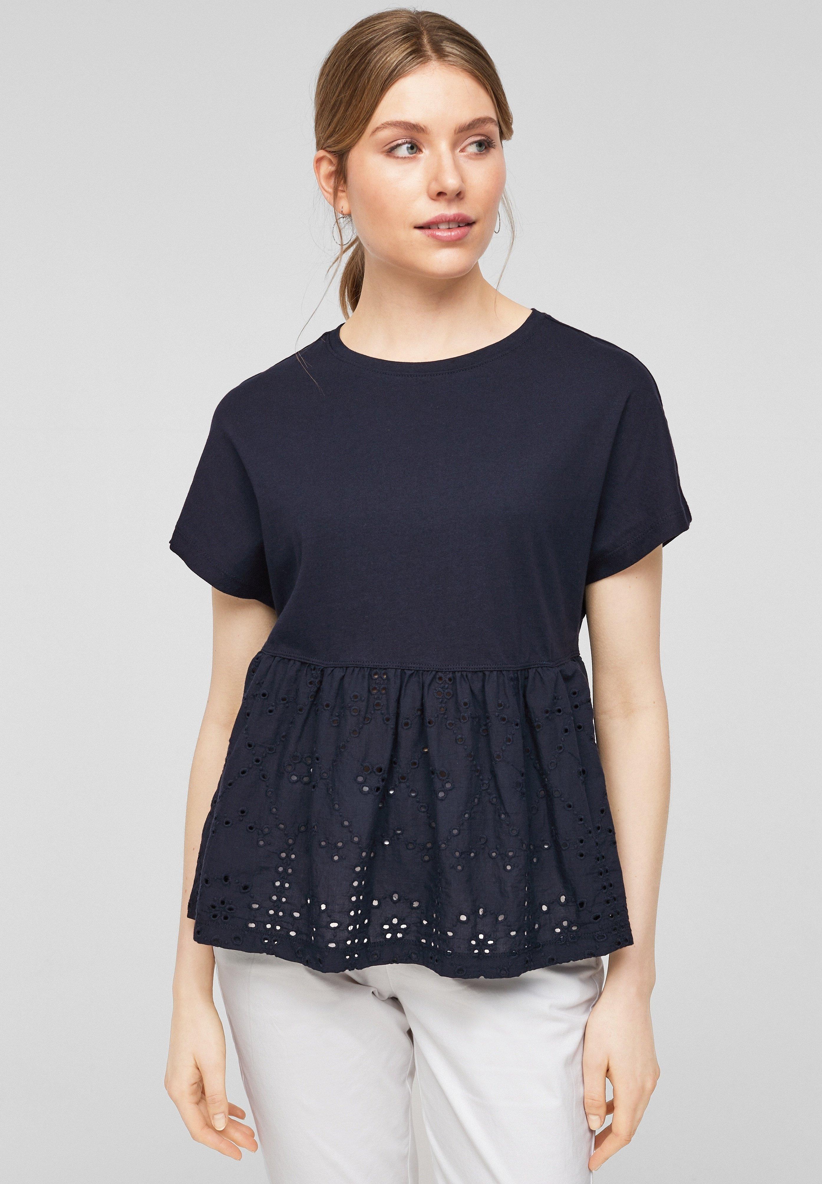 Damen MIT LOCHSTICKEREI - T-Shirt print