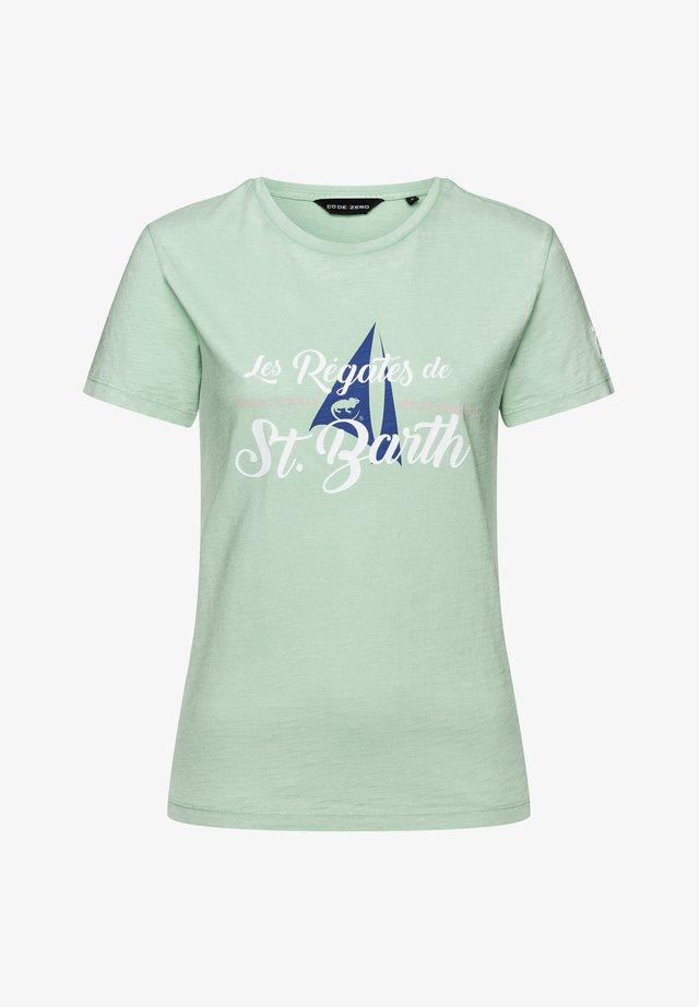 T-SHIRT GOUVERNEUR T-SHIRT DAMEN - Print T-shirt - green wave