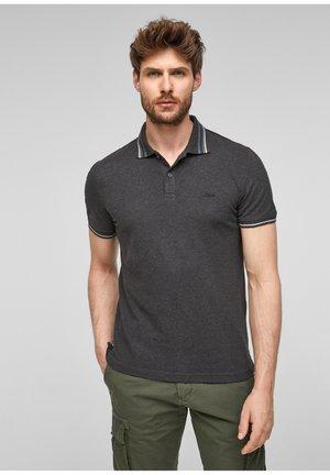 Poloshirt - black melange