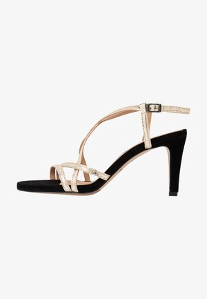 High heeled sandals - or/noir
