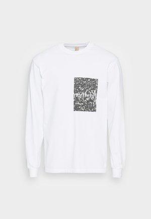 CROWD LONGSLEEVE - Pitkähihainen paita - white