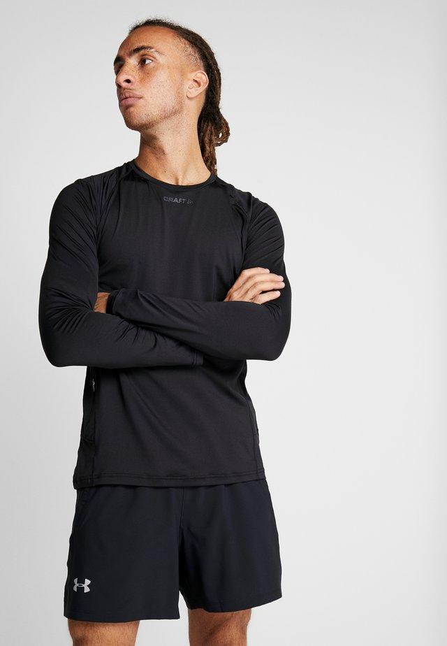 ESSENCE TEE - Maglietta a manica lunga - black