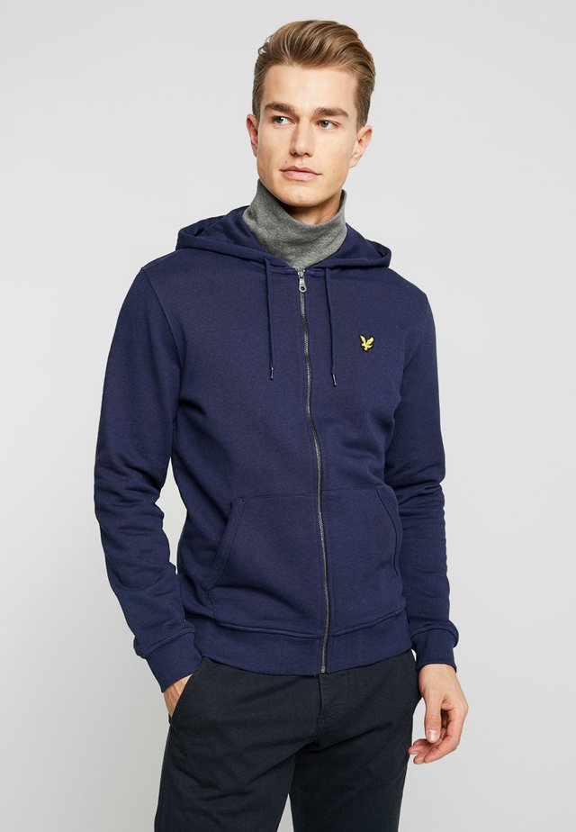 ZIP THROUGH HOODIE - veste en sweat zippée - navy