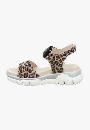 Sandalen met plateauzool - beige, black