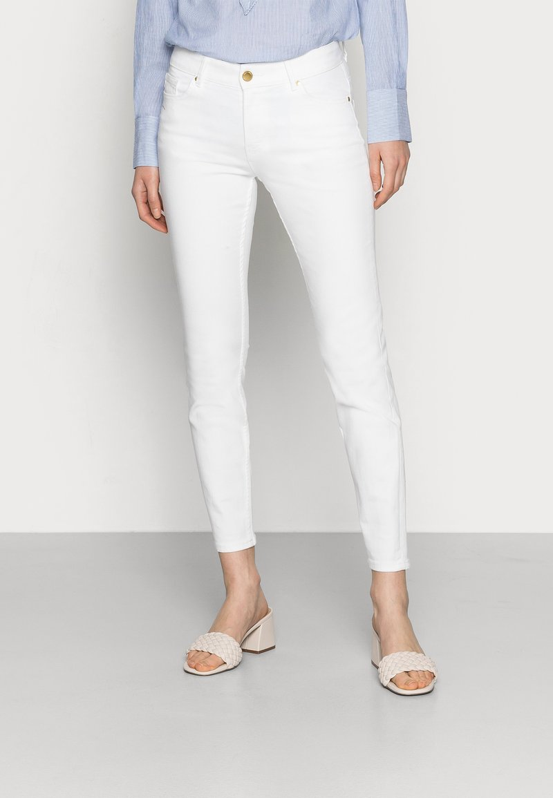 Lindex - TROUSERS TOVA CROPPED - Jeans slim fit - off white