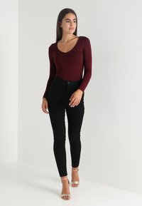 New Look - BODY - Top s dlouhým rukávem - dark burgundy - 1