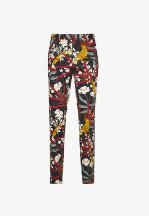 PARADISE BIRD TROUSER - Suit trousers - black