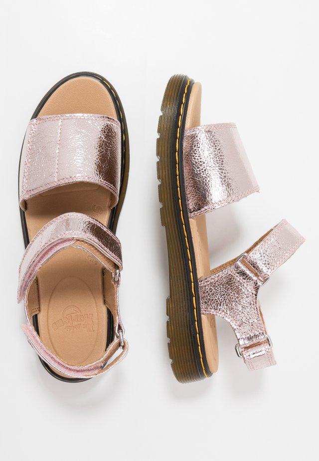 ROMI  - Sandały - pink salt/crinkle metallic