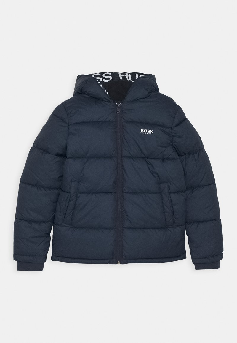 BOSS Kidswear - PUFFER JACKET - Zimní bunda - navy