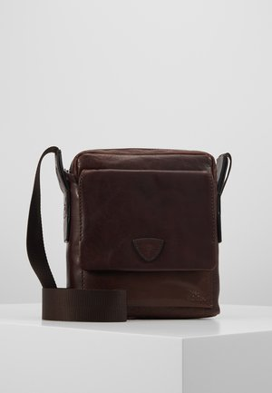 BRENTA REMUS SHOULDERBAG - Across body bag - darkbrown