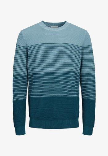 Stickad tröja - sailor blue