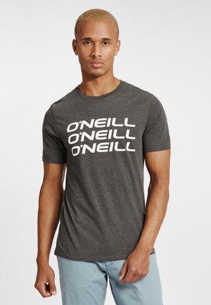 TRIPLE STACK  - Print T-shirt - dark grey melee