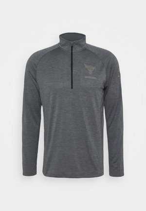 PROJECT ROCK TECH ZIP - Sportshirt - pitch gray light heather