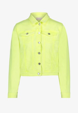 Denim jacket - neon lemon