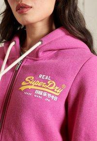 Superdry - Zip-up sweatshirt - magenta marl - 1