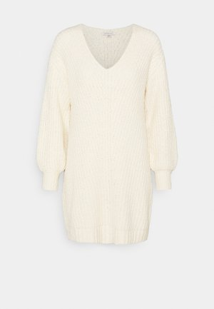 OPEN VEE HILO SWEATER DRESS - Jumper dress - cream