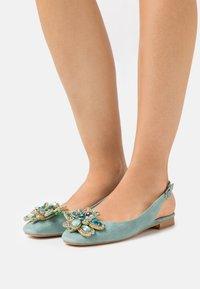 Alma en Pena - Ankle strap ballet pumps - mint - 0
