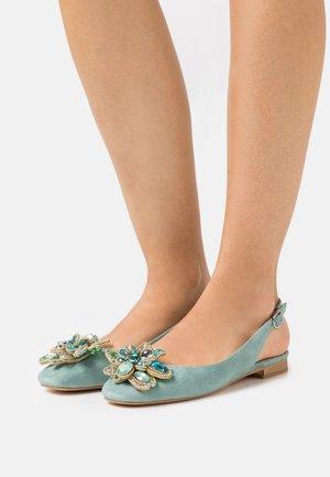 Ankle strap ballet pumps - mint