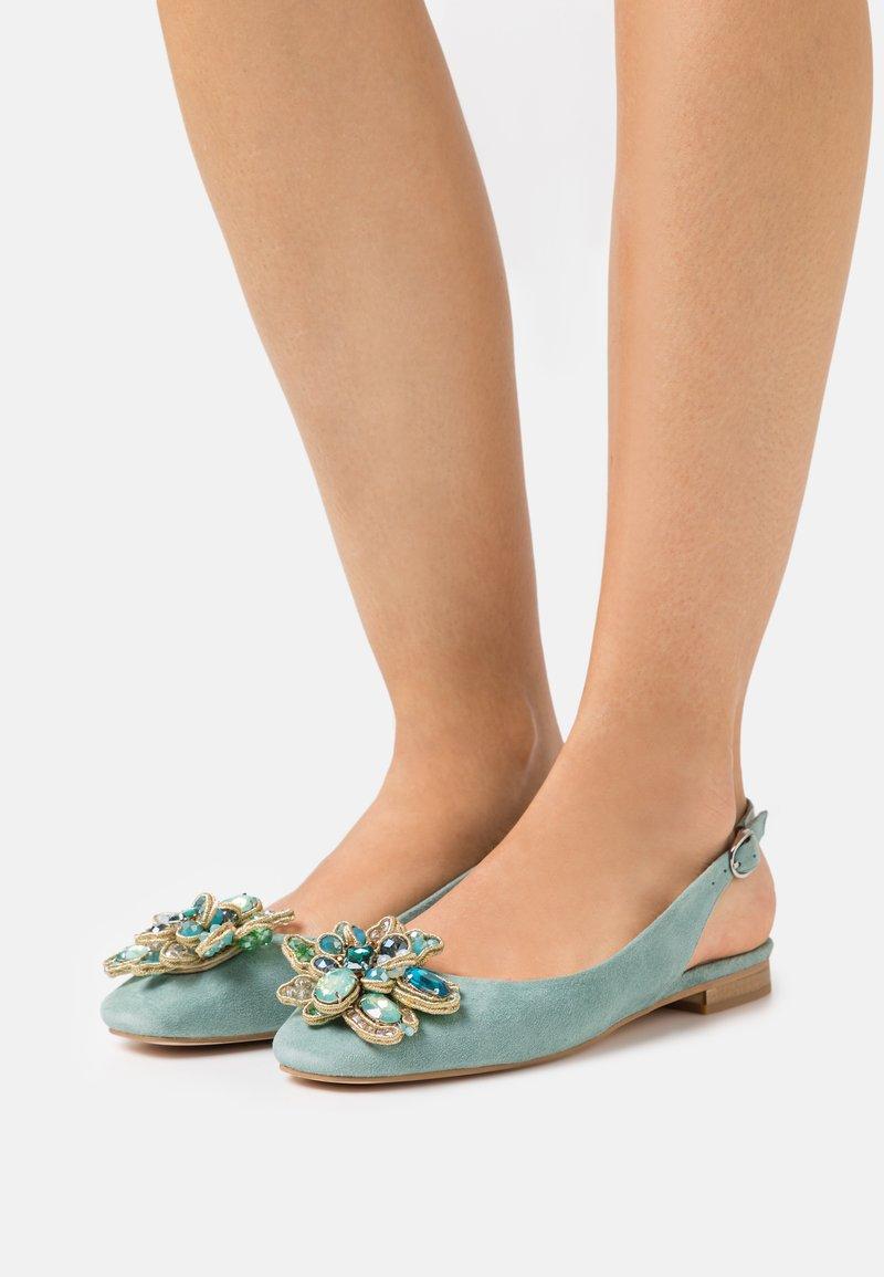 Alma en Pena - Ankle strap ballet pumps - mint
