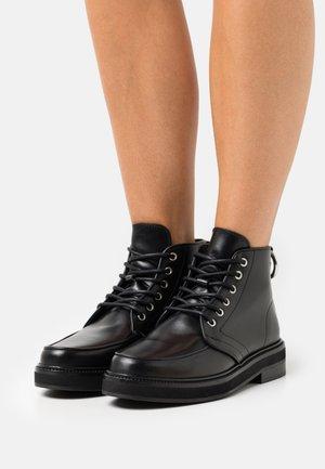 SHOES - Lace-up ankle boots - black