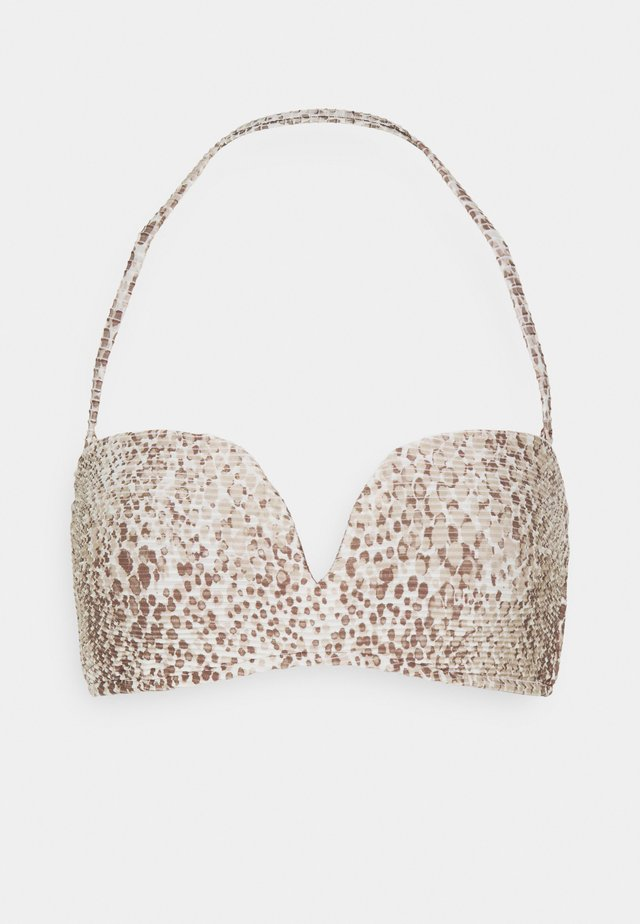 SERPENTINE BANDEAU BRA - Bikini top - chocolate