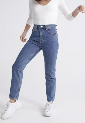 SUPERDRY HIGH RISE STRAIGHT JEANS - Straight leg jeans - blue